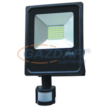 OPTONICA FL5496 LED reflektor,mozgásérzékelős 30W 95V-265V 80lm/W 2700K 150° 300x183x50mm IP66 A+ 25000h