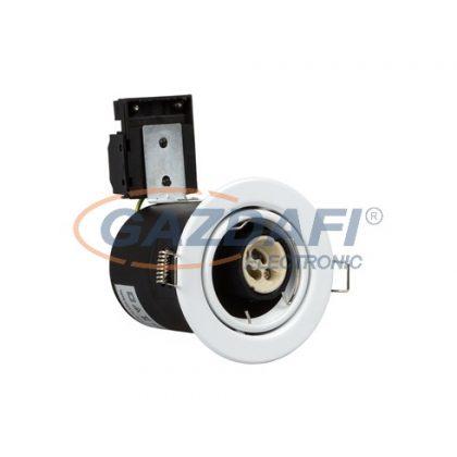 OPTONICA OT5063 fehé,fix,lefelé világító spot lámpatest,tűzbiztos,billenthető GU10 85x130mm IP20
