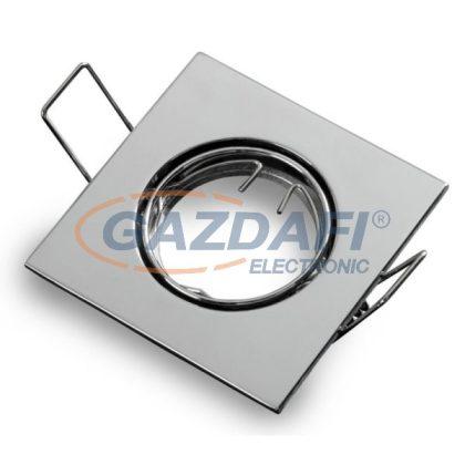 OPTONICA OT5075 fényes króm,négyzet spot lámpatest 82*82*29mm G5.3