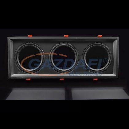 OPTONICA OT5086 ezüst,négyzet spot lámpatest,állítható,tripla AR111 480*180*42mm