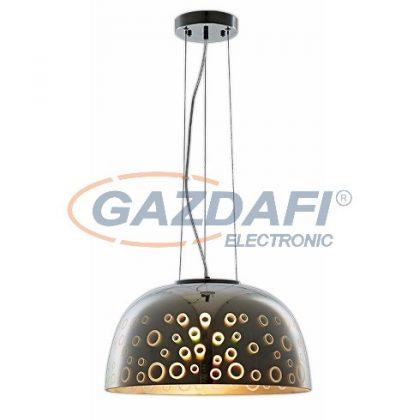 OPTONICA PD9018 3D üveg függesztett csillár,kör mintás,króm - 40W E27 400x200mm