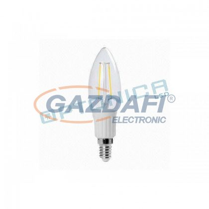 OPTONICA SP1436 LED fényforrás,filament E14 2W 220V 200lm 2700K 300° 30x110mm IP20 A+ 25000h