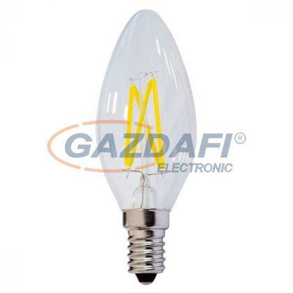 OPTONICA SP1471 LED fényforrás,filament C35 E14 4W 175-265V 400lm 4500K 300° 35x98mm IP20 A+ 25000h