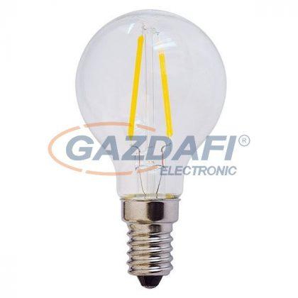 OPTONICA SP1478 LED fényforrás,filament G45 4W E14 85-265V 400lm 4500K 300° 45x78mm IP20 A+ 25000h