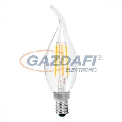 OPTONICA SP1482 LED fényforrás,filament C35  E14 4W 320lm 175-265V 2700K 300° 35x115mm IP20 A+ 25000h