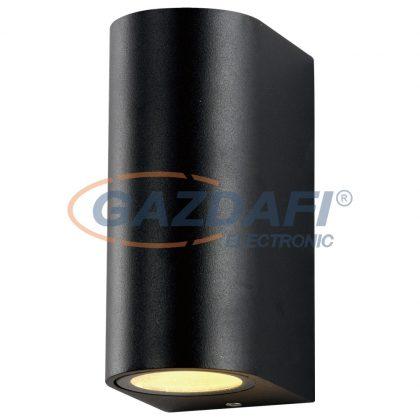 OPTONICA WL7437 fali lámpa alumínium fekete IP54 2*GU10 AC220-240V
