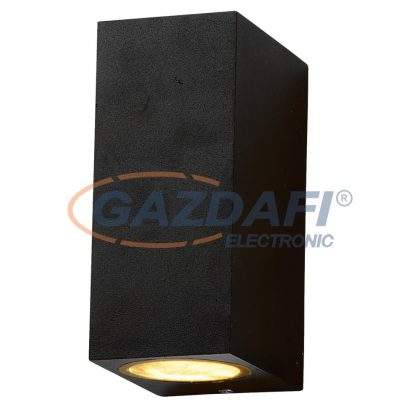 OPTONICA WL7440 fali lámpa alumínium fekete  IP54 2*GU10  AC220-240V