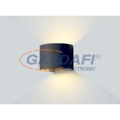 OPTONICA WL7464 LED falilámpa EPISTAR AC100-240V 6W IP54 480LM fekete  3000K