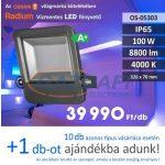 RADIUM LED fényvető, 100W, 8800Lm, 4000K, 326x70mm, IP65