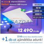 RADIUM Süllyesztett LED panel, 40W, 3400Lm, 4000K, 595x595x8,2 mm