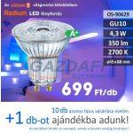 Bec Led RADIUM LED  GU10, 4.3W, 350Lm, 240V, 2700K