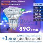 RADIUM LED fényforrás, GU10, 6,9W, 575Lm, 240V, 2700K