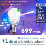 Bec Led RADIUM LED, E14, 5.3W, 470Lm, 240V, 2700K, opal