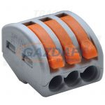 TRACON OVO2_5-3 Csavar nélküli vezetékösszekötő, nyitható, 60 db/csomag