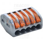 TRACON OVO2_5-5 Csavar nélküli vezetékösszekötő, nyitható, 40 db/csomag