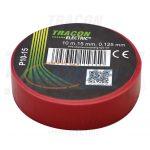TRACON P10-15 Szigetelőszalag, piros 10m×15mm, PVC, 0-90°C, 40kV/mm
