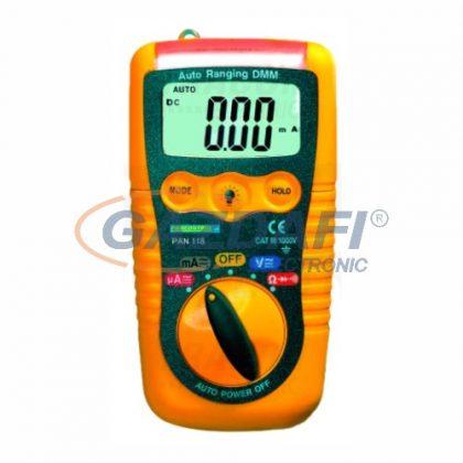 TRACON PAN118 Digitális multiméter, DCV, ACV, DCA, ACA, OHM, dioda