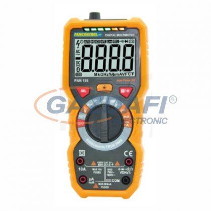 TRACON PAN186 Digitális multiméter True RMS, DCV, ACV,DCA,ACA,OHM, C, °C, dioda