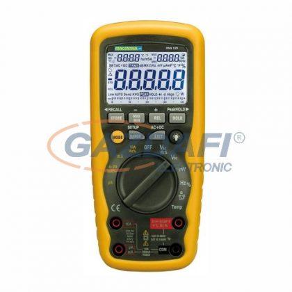 TRACON PAN189USB Digitális multiméter USB True RMS, DCV, ACV, DCA, ACA, OHM, C, °C, dioda, IP67