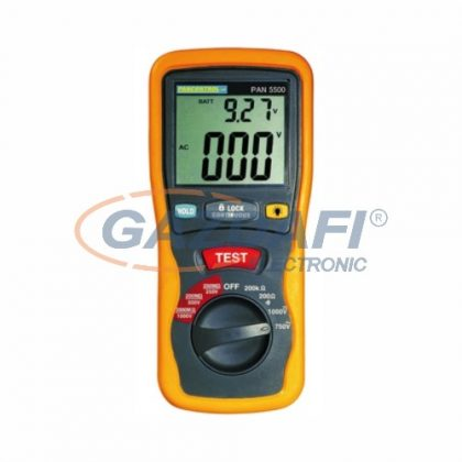 TRACON PAN5500 Digitális multiméter és szigetelés vizsgáló ACV/DCV, R