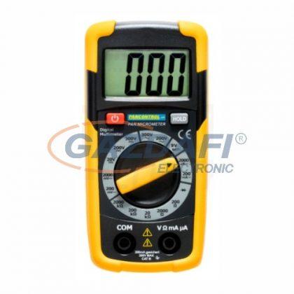 TRACON PANMICROMETER Digitális multiméter, DCV, ACV, DCA, ACA, OHM, dioda
