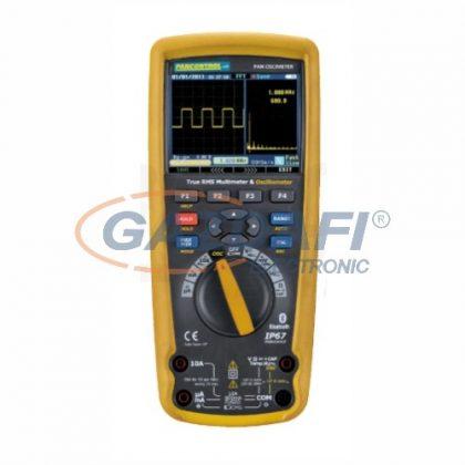 TRACON PANOSCIMETER Digitális multiméter True RMS oszcilloszkóppal, DCV, ACV, DCA, ACA, OHM, C, °C, dioda, IP67