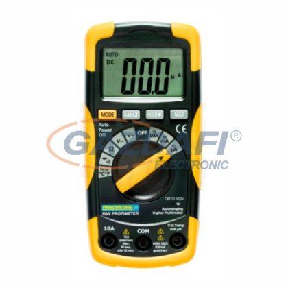 TRACON PANPROFIMETER Digitális multiméter, DCV, ACV, DCA, ACA, OHM, dioda