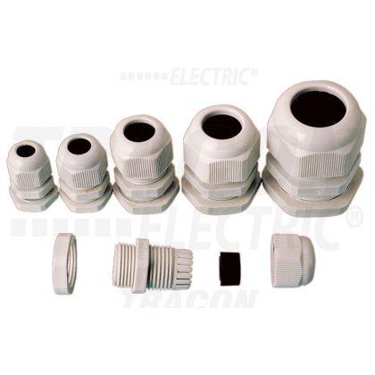 TRACON PG-7 Gázmenetes tömítőszelence, műanyag IP66, 3.5-6.5mm