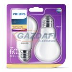 PHILIPS 8718696576830 8W E27 Classic izzó A60 LED fényforrás 2db/csomag