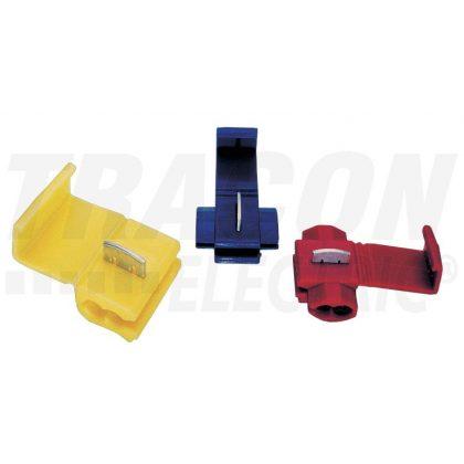 TRACON PL Késes leágaztató (PVC), ónozott elektrolitréz, piros 0,5-1mm2, 50VDC, max. 10 A
