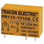 TRACON PR110-1V10A Print relé 110V DC / 1×CO (10A, 230V AC / 30V DC)