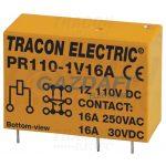 TRACON PR110-1V16A Print relé 110V DC / 1×CO (16A, 230V AC / 30V DC)