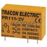 TRACON PR110-2V Print relé 110V DC / 2×CO (5A, 230V AC / 30V DC)