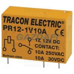 TRACON PR12-1V10A Print relé 12V DC / 1×CO (10A, 230V AC / 30V DC)