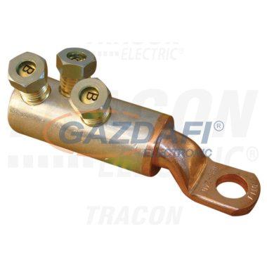 TRACON RA185-240CS16 Szakadófejes csavaros réz-alumínium szemes csősaru 185-240mm2,3×M16