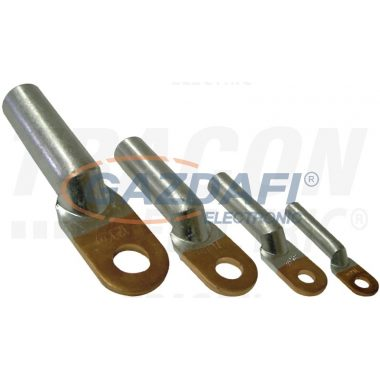 TRACON RA35-8 Szigeteletlen réz-alumínium szemes csősaru 35mm2, M8, (d1=8,5mm, d2=8,8mm), 20 db/csomag