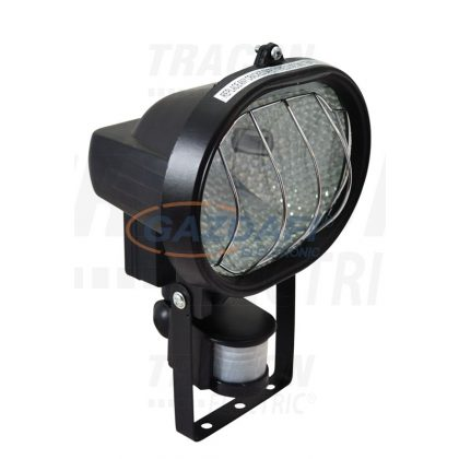 TRACON RKM-500 Halogén fényvető mozgásérzékelővel, ovális, fekete