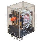 TRACON RM14-12DC Miniatűr relé 12V DC / 4×CO (3A, 230V AC / 28V DC)