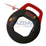RUNPOTEC 100130 Triplán csavart műanyag vezetékbehúzó szalag, RUNPO 5, 20m