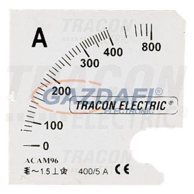 TRACON SCALE-45-AC-500 Skálalap ACAMS-X/5 műszerhez 0 - 500 (1000) A