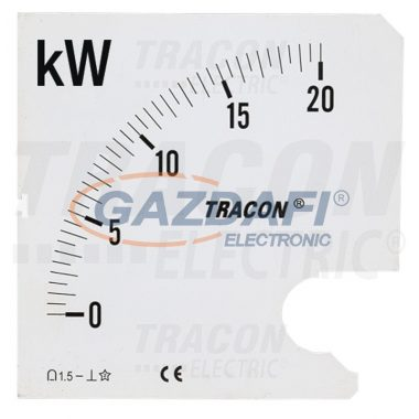 TRACON SCALE-45-W-1-15 Skálalap W45S-230/1 műszerhez