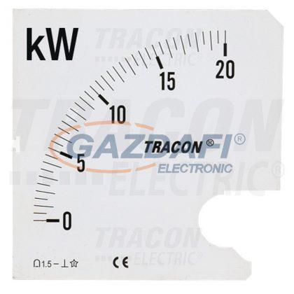TRACON SCALE-W72-4-100 Skálalap W72-400V/4 műszerhez