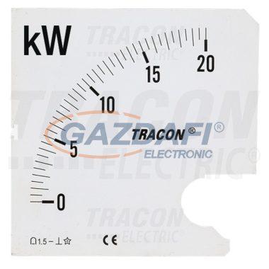TRACON SCALE-W72-4-120 Skálalap W72-400V/4 műszerhez