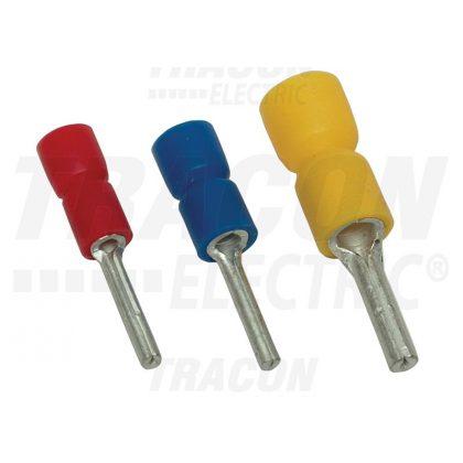 TRACON SCS Szigetelt csapos saru, ónozott elektrolitréz, sárga 6mm2, (l1=13mm, d1=3,5mm), PVC