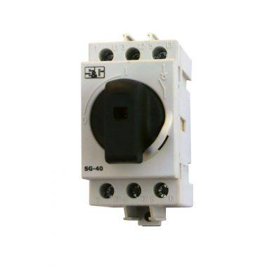 S&G moduláris forgócsapos kapcsoló, 0-40A, 3P, 230V, IP20