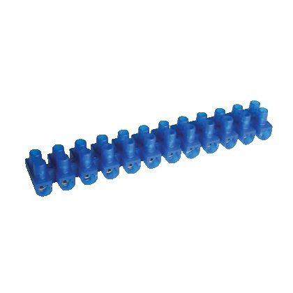 TRACON SK10A-U Flexibilis sorozatkapocs, U profil, 12 tag, kék 6mm2, 450VAC, 40A, PE