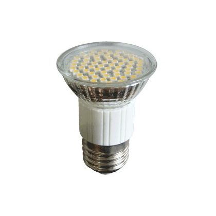 TRACON SMD-E27-60-WW SMD LED spot fényforrás 230V, 50Hz, E27, 2,7W, 3000K, 180lm, 60×LED, 120°