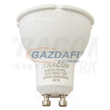 TRACON SMDGU109CWO Műanyag házas SMD LED spot fényforrás 230 V, 50 Hz, GU10, 9 W, 800 lm, 6000 K, 100°, EEI=A+