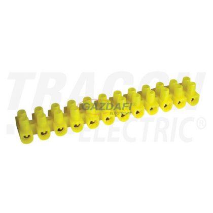 TRACON SS3A-H Flexibilis sorkapocs 2,5 mm2, 16 A, H 12 tagú, sárga 2.5mm2, 450VAC, 3A, PE