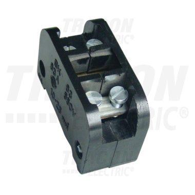 TRACON ST100 Bakelit sorozatkapocs-blokk, 1 tag, fekete 50mm2, 450VAC, 100A